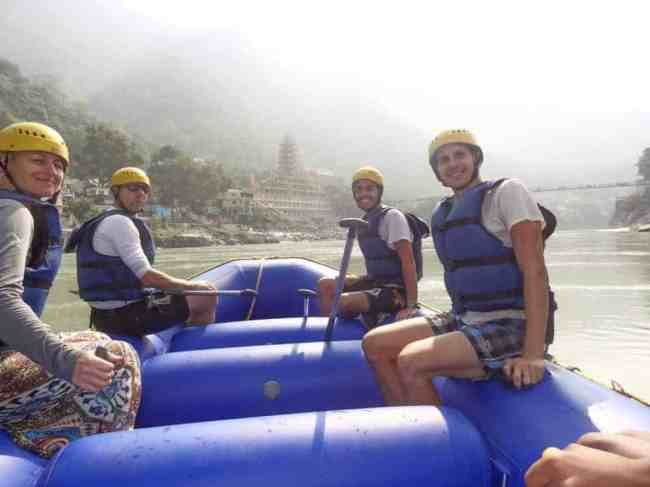 Us with our new Polish friends we met rafting