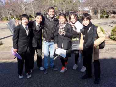 Japanese students who interviewed us for their English class
