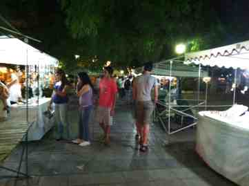Outdoor market at Plaza Independencia
