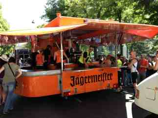 The mobile bar during the Rainbow Parade