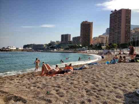 Beach in Monaco