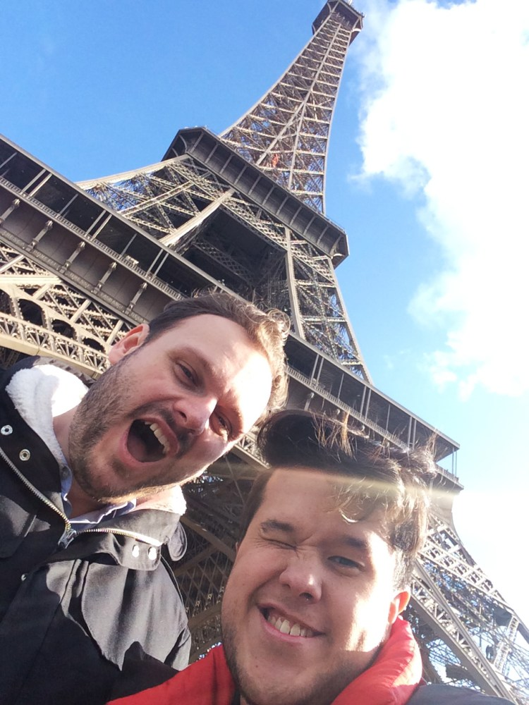 Us in front of the Eiffel Tower