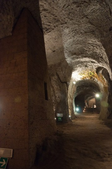 One of the many caves under the town of Orvieto