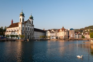 Jesuit Church on the Reuss River, Lucerne