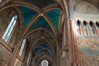 Blue ceiling frescoes, St Francis Basilica Assisi