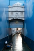 Blue Toyota Advertising, Bridge of Sighs, Venice