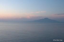 Sun setting in Sorrento
