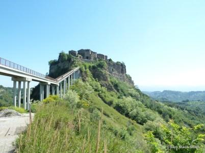 The bridge to Civita di Bagnoreggio, Italy