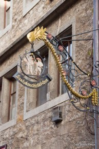 Elaborate sign, medieval Rothenburg