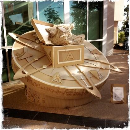 Biohazard cardboard sculpture