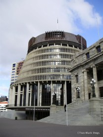 New Zealand's Parliament House aka 'the Beehive'