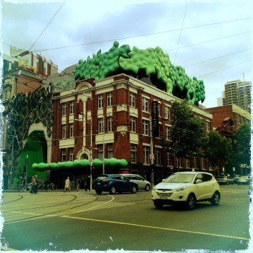 RMIT Building 22, known as 'the Green Brain'