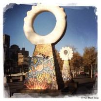 Funky, colourful sculptures