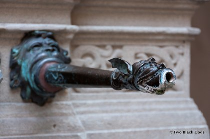 Artistic metal tap, Lucerne Switzerland