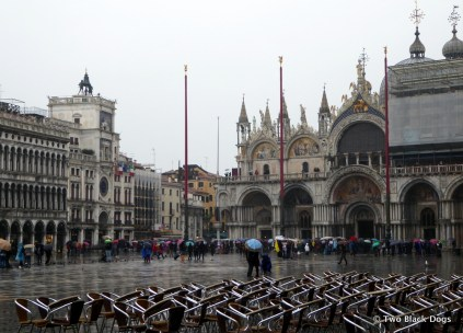 St Mark's Square on a rainy day