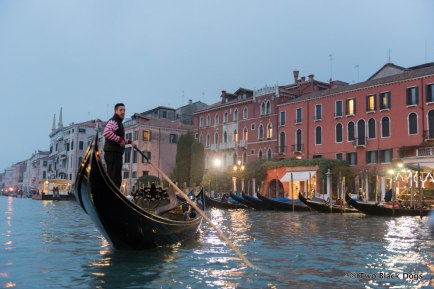 The Grand Canal on a gondola