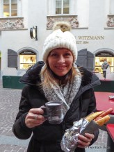Gluhwein and sausage to ward off the cold