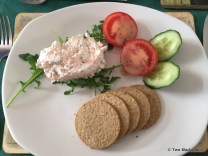 Smoked Salmon Pate and Oatcakes, Garden Arms Hotel Gardenstown
