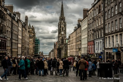 Crowds on the Royal Mile, Edinburgh