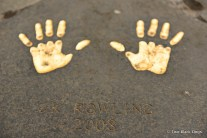JK Rowling's handprints