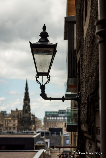 View of the Scott Monument from Advocate's Close on the Royal Mile