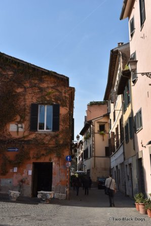 Trastevere is a labyrinth of narrow, cobblestone streets.