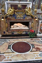 Baroque sculpture in the Santa Cecilia in Trastevere church, Martyrdom of Saint Cecilia by Stefano Maderno.