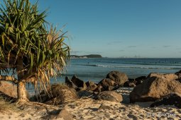 View of Surfers Paradise from Currumbin Rock