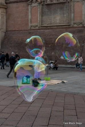 Bubble is Piazza Maggiore