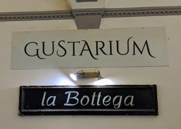 Gustaarium la Bottega sign