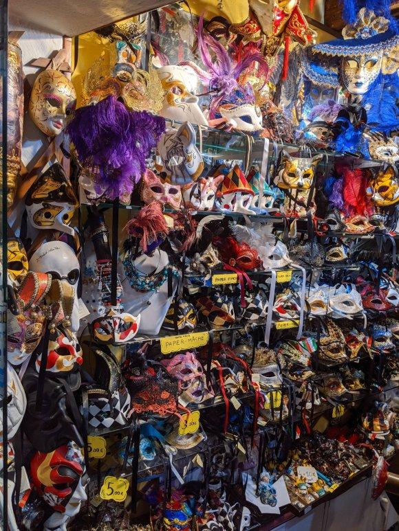 Shop with Venetian masks
