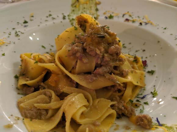 Duck ragu in Venetian restaurant