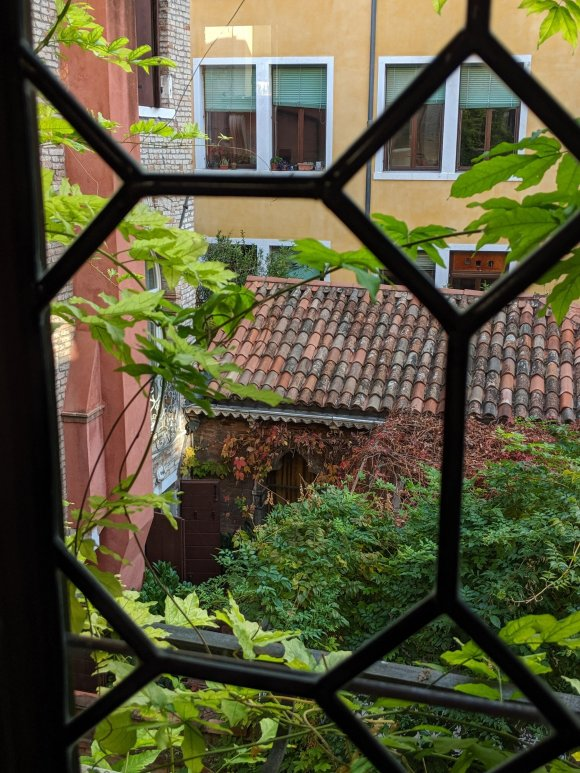 View out window at Hotel Novecento, Venice