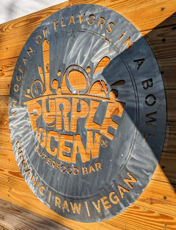 Purple Ocean logo raw vegan