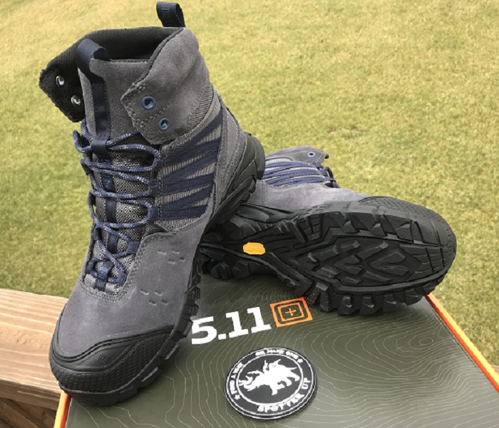 product shot of 5.11 union waterproof boots