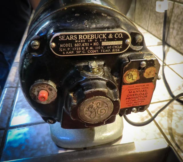 sears and roebuck grinder with GE motor