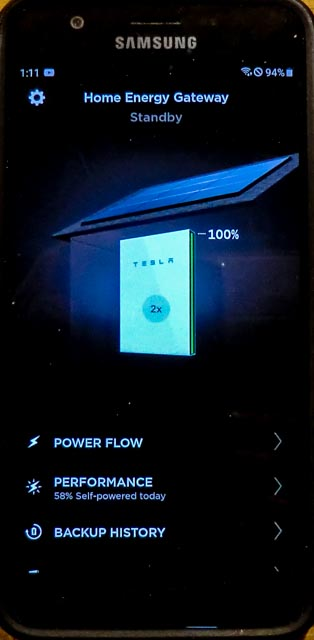 a screen shot of the Tesla app on a smartphone
