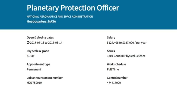 NASA-job-listing-planetary-protection-officer-six-figure-salary-4-889x456