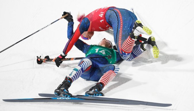 Team USA's Cross Country Skiing Finish Was So Intense I Actually Got Goosebumps Watching It