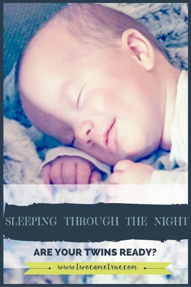 Learn when your twins are ready to begin sleeping through the night so you can begin feeling more rested.