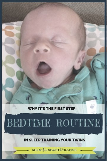 How the bedtime routine can help you sleep train your twins