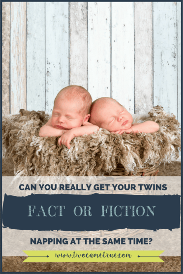 how to get twins napping at the same time