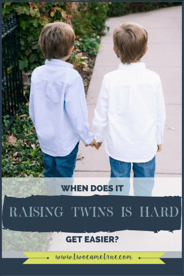 raising twins is hard: when does it get easier?