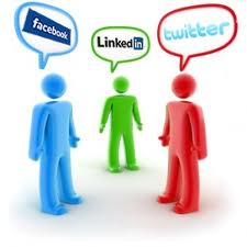 Twitter, LinkedIn, and Facebook