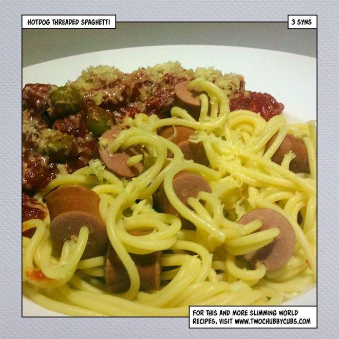 hot dog threaded spaghetti slimming world