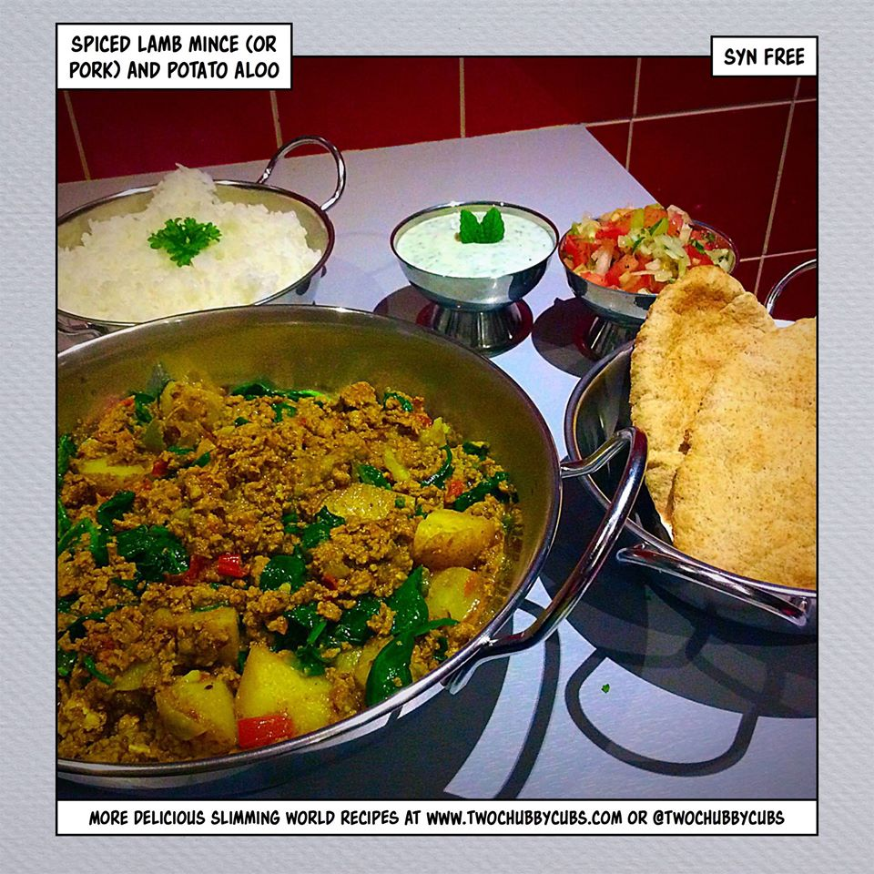 Spiced Lamb Mince And Potato Aloo Kheema Twochubbycubs