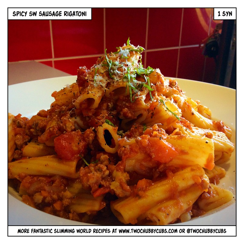 spicy slimming world sausage rigatoni