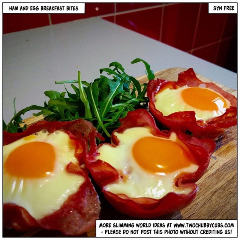 ham and egg breakfast bites