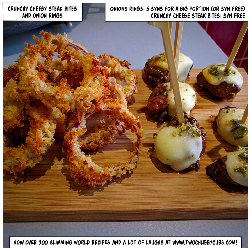 onion rings and steak bites