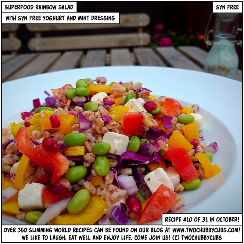 rainbow superfood salad